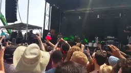 Childish Gambino Freestyles At Preakness Fest 2015