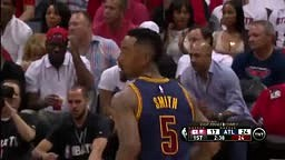 WOW!!! J.R. Smith Sets New Cavs Playoff RECORD with 8 TRIPLES!!