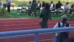 Girl FALLS at Graduation trying to wear mamas 4inch heels