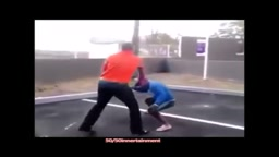 Small guy knocks out bully TWICE his size and walks off like a Boss!