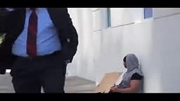 LOL!! WATCH People's reaction when HOMELESS guy gives them money