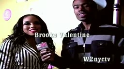 Brooke Valentine chats with Ap 1nabillion at Lisa Raye Red Carpet Event