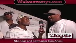 RON ARTEST tells Ap 1nabillion HE RUNS NYC STREETBALL