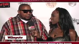 BET Awards Red Carpet Interview Dangerus Diva with Glasses Malone
