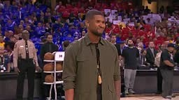 WATCH: Usher Sings U.S. National Anthem Before Game 4 Of NBA Finals
