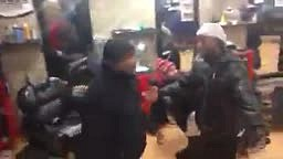 LOL! Just pay the Barber or You Might Just Get KNOCKED OUT Like This...