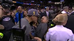 Riley Curry Celebrates Nba Finals Championship Win with Father Stephen