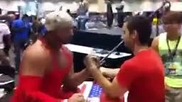 SURPRISING Finish to Arm Wrestling contest