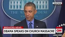President Obama responds to Killings at South Carolina church
