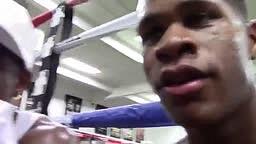 Next Boxing Star Devon Haney at Mayweather gym