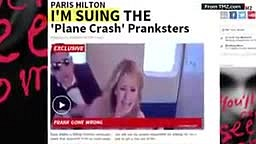 WATCH Paris Hilton Fall VICTIM to an Egyptian prankster thinking the plane she was on in ‪#‎Dubai‬ was about to crash