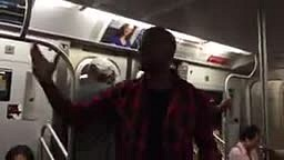 Tyrese rides the Subway Train in Brooklyn Ny to promote New Black Rose Album