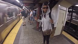 LMFAO Brandy gets IGNORED While Singing on the train in Nyc