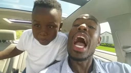Father and Son ROCK OUT in the car to Kriss Kross Jump Ap 1nabillion & ItsJfunk