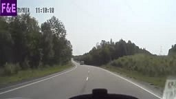 WHOA!!! Watch this Russian Rig Nearly FLIP OFF BRIDGE!