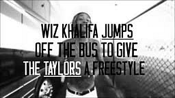Wiz Khalifa hops off the tour bus to spit a Freestyle!