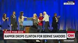Lil B Speaks On Endorsing Presidential Candidate 'Bernie Sanders' Over Hillary Clinton On CNN!