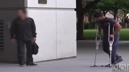 Prank shows how some people dont help the helpless