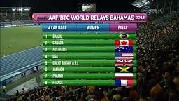 American Women win 4x400m at Worlds