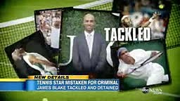 Former Tennis Star James Blake Speaks out after NYPD tackle and arrest him in mistaken Identity Scandal