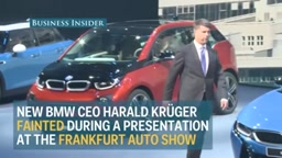 New BMW CEO faints in the middle of a presentation
