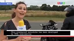 LMAO Motorcycle Test Fail on Live Tv