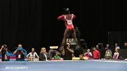The NEXT Gabby Douglas! Biles does it AGAIN winning her THIRD STRAIGHT US title in Gymnastics