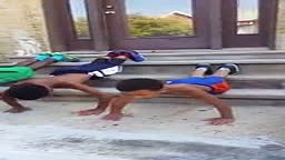 SO CUTE!! 8 Year Old Jamaican Boy Trains His Friends To WORK OUT & GEt 6 pack Muscles