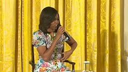CUTEST little girls tells 1st Lady Michelle Obama Looks too Young to be 51 years old