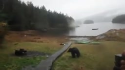 WATCH Girl Cries and YELLS at Bear for destroy her Kayak