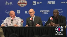 L.A. Clippers - Postgame Press Conference_ Steve Ballmer Michael Jordan