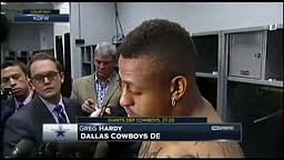 No Comment Next Question Dallas Cowboys Greg Hardy pulls a Marshawn Lynch on the media