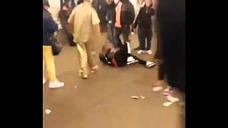 IDIOT Tries To ROB a NYC Street Performer and gets Jackie Chan Karate Kicked