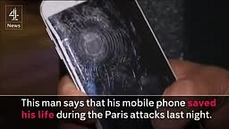 Man saved by mobile phone during Paris Attack