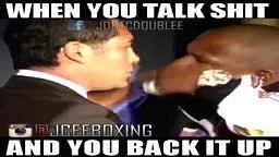 When you talk it and walk it Mayweather vs Delahoya