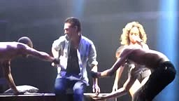 Rihanna gives a lucky fan a lap dance during live show