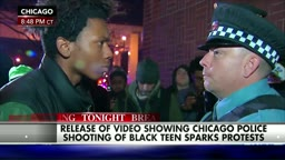 Black Lives Matters Protester Has Stare Down with Cops and it Drives White Media Crazy