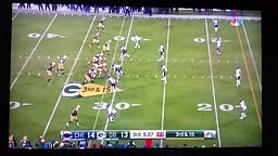 Aaron Rodgers says Green 19, Green 19, OH FUCK after Bad Snap