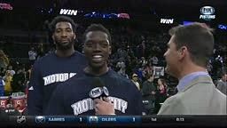 Detroit Pistons Andre Drummond Video Bombs Reggie Jackson's interview