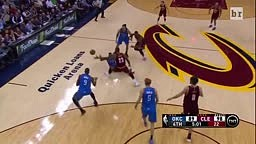 L TRAIN Lebron James Dives for Loose Ball and CRASHES into Jason Day's Wife