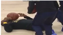 OUCH!! LeBron James Gets SMACKED HARD in the Face With Basketball