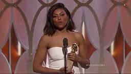 Taraji Wins BEST Actress Golden Globe for 'Cookie, Who Spent 17 Years in Jail for Crack'