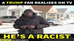 SMH!! A Trump Fan Realizes on TV That HE'S A RACIST....