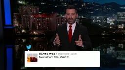 LOL.. Kanye West VS Wiz Khalifa Beef As Explained By Jimmy Kimmel