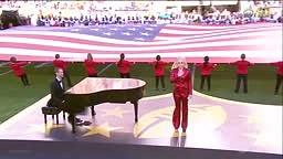 Lady Gaga - National Anthem - Super Bowl 2016 Full Performance