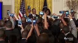 WATCH The White House gets real BLACK for a moment..