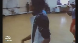 Michael Jackson rehearsing Thriller