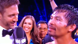 Pacquiao vs. Bradley 3 Post Fight Interview