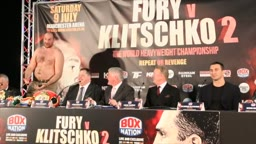 TYSON FURY TAUNTS KLITSCHKO LOOK AT ME, YOU LOST TO A FAT MAN