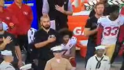 Colin Kaepernick Takes a STAND and sits AGAIN during the national anthem!